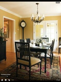 Louis Park - traditional - dining room - minneapolis - Anna Berglin Design- love the yellow and black Yellow Dining Room, Dining Room Colors, Dining Room Walls, Dining Room Design, Dining Room Furniture, Black Furniture, Furniture Ideas, Dinning Set, Painted Furniture