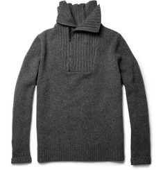 Givenchy Zipped Wool and Cashmere-Blend Sweater   MR PORTER