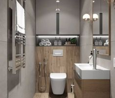 Das Bild kann enthalten: Innenraum Na obrázku môže byť: interiér - Marble Bathroom Dreams Bathroom Cabinets Over Toilet, Bathroom Barn Door, Bathroom Layout, Bathroom Interior Design, Bathroom Designs, Basement Toilet, Toilet Closet, Basement Bathroom, Bathroom Storage