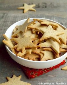 Recipe for Christmas Shortbread / Recipe Christmas cookies Shortbread Recipes, Shortbread Cookies, Cookie Recipes, Snack Recipes, Dessert Recipes, Snacks, Cupcakes, Cupcake Cookies, Brownie Cookies