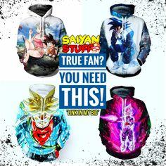 Get awesome hoodies at saiyanstuff.com