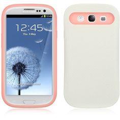 DW Glow-in-Dark Hybrid Case for Samsung Galaxy S3 - White/Pink