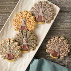 Marbled Turkey Cookies – Go Bold With Butter! (SweetAmbs) Marbled Turkey Cookies – Go Bold With Butter! Turkey Cookies, Fall Cookies, Cut Out Cookies, Iced Cookies, Cute Cookies, Royal Icing Cookies, Holiday Cookies, Cupcake Cookies, Cookie Icing