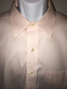 Brooks Brothers 17 5 34 35 Non Iron Dress Shirt Pink Point Collar | eBay
