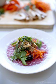 Quick Rice Paper Rolls w/ Tofu & Enoki Mushrooms #recipe #vegan #healthy #food