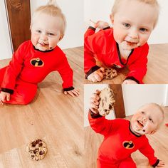"""Roberts Family on Instagram: """"We made jack jack cookies 🍪 today and we couldn't not dress Chase up in his baby jack jack costume 😋 Follow @disneylandtourguide blog for…"""" Adventures By Disney, Jack And Jack, Disney Food, Halloween Ideas, Costumes, Cookies, Blog, Kids, Dress"""