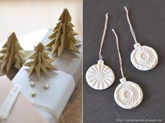 Herzschmiede: Weihnachtsgruß und Keramikanhänger DIY