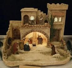 Christmas Cave, Christmas Crib Ideas, Christmas Pictures, All Things Christmas, Christmas Crafts, Christmas Decorations, Christmas Tree Village Display, Christmas Nativity Scene, Christmas Villages