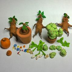 Here are some items I made for a harry potter garden. Made from polymer clay…