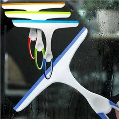 New Fashion Glass Window Wiper Soap Cleaner Squeegee Home Shower Bathroom Mirror Car Blade : Style Color:As the picture show(ship randomly)  Materia.