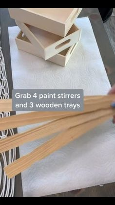 Diy Crafts For Home Decor, Diy Crafts To Do, Diy Crafts Hacks, Diy Arts And Crafts, Diy Projects To Try, Creative Crafts, Wood Crafts, Diy Wedding Projects, Diy Wood Projects
