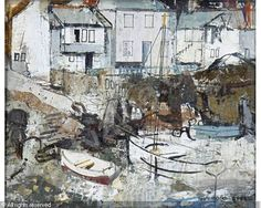 STEEL George Hammond - Mousehole, Cornwall Mousehole Cornwall, West Cornwall, Steel Paint, Irish Art, St Ives, Modern Artists, Texture Painting, Art Market, Art World