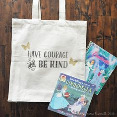 diy tote bags - have courage and be kind | Lorrie Everitt Studio