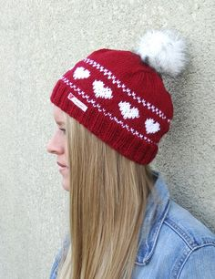 norweger muetze herzmuster stricken 3 You are in the right place about handschuhe sitricken zopf Her Knitted Hats, Winter Hats, Presents, Beanie, Knitting, Crochet, Handmade, Blog, Fashion
