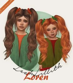 LeahLillith Loren hair conversion by Simiracle for The Sims 4