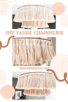 How to make a tassel chandelier on a major budget