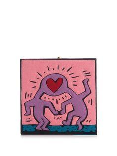Olympia Le-Tan Love square box clutch