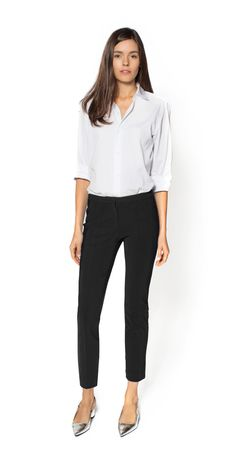 MACHINE WASHABLE - Black Cigarette Pants For Work (my prayers have been answered!) #trousers #workclothes #perfectpants