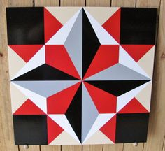 Barn Quilt  Director's Choice pattern 24x24 by RemillardBarnQuilts, $90.00