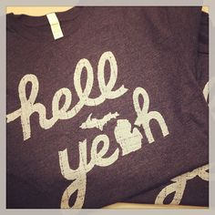 hell yeah   #Michigan T-shirt by Sibling Design