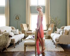 Erin Fetherston living room. http://colormecaitie.blogspot.com/2014/08/erin-fetherstons-nyc-apartment.html