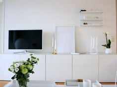 I love the white cabinet.