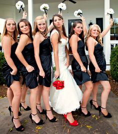 My bridesmaids will also be wearing black, similar to this.