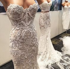 Vestido De Noiva 2016 Mermaid Lace Wedding Dresses All Over Lace Bridal Gown Robe De Mariee Princesse hochzeitskleider Prom Dresses, Bridesmaid Dresses, Formal Dresses, Wedding Dresses, Dress Prom, Dresses 2016, Vintage Lace Weddings, Pnina Tornai, Look Girl