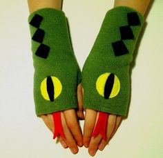 Fingerless Gloves for ADULTS - Snakes (Ladies or Mens size S - XL) - Fleece Hand / Wrist / Arm / Fingerless Mittens / Costume. $14.95, via Etsy.