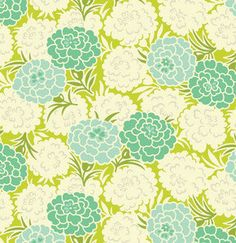 Mum Toss in Chartreuse from the Up Parasol Collection by Heather Bailey for Free Spirit Fabrics. It mixes and matches well with Heathers
