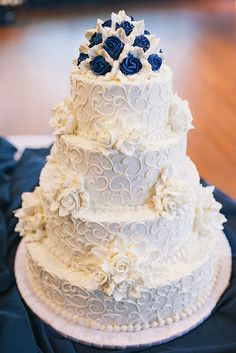 DIY | 17 Blue Wedding Cake Ideas ... #reception #party #bride