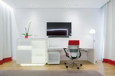 KRION® Blog – Porcelanosa Solid Surface » Descanso tecnológico en NH Eurobuilding con mobiliario de KRION®