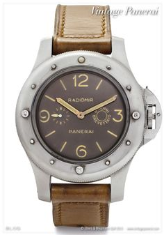 "GPF 2/56 ""Radiomir Panerai"" with Angelus movement Cal. SF 240 (eight-days-movement), made for Egyptian Navy"