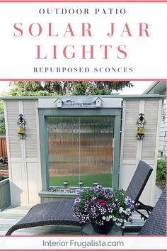 How to repurpose candle sconces into outdoor solar jar lights for inexpensive backyard lighting to hang on a patio or fence with upcycled metal sconces and dollar store mason jar solar lights by Interior Frugalista #solarjarlights #backyardideas #patiolanterns #outdoorlighting #diysolarlights Backyard Walkway, Backyard Lighting, Ponds Backyard, Outdoor Lighting, Mason Jar Solar Lights, Jar Lights, Patio Lanterns, Home Landscaping, Diy Garden Decor