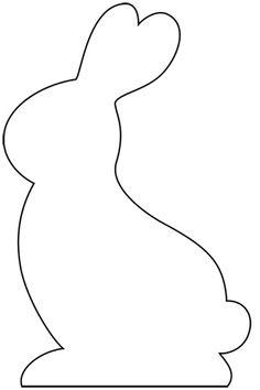 Nifty image with bunny silhouette printable