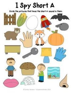 I Spy Letter Sounds Bundle - Differentiated Learning set for Beginning Letter Sounds and Vowel Sounds
