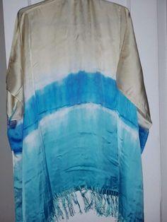 CHICO'S Brigette Ruana hand-dyed Jacket Wrap Shawl w Fringe 'One Size' NWT. $99. #Chicos #WrapRuana