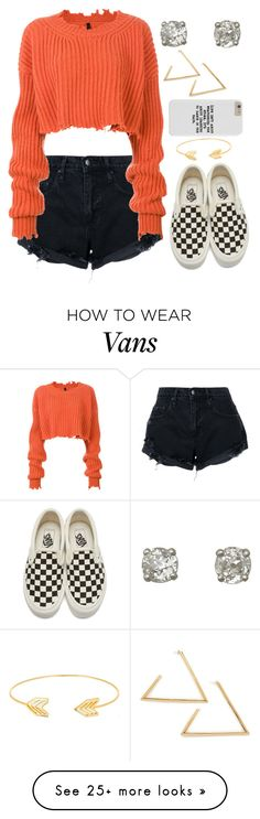 """""""Untitled #599"""" by anonymous-gal on Polyvore featuring Nobody Denim, Unravel, Vans and Lord & Taylor"""