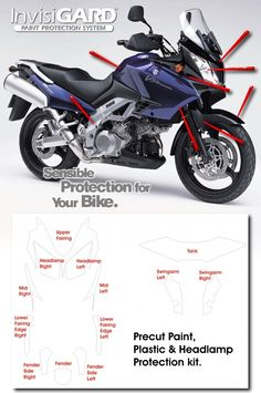 InvisiGARD Invisible Clear Paint & Headlight protection kits for Suzuki V-Strom 1000