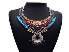 Beaded designer boho necklace