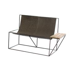 Take a seat with a friend in this rugged sling bench. Raw metal and a built-in wooden side table make it an ultra-cool choice for some afternoon conversation.  Find the Cady Sling Bench, as seen in the #UrbanBohemia Collection at http://dotandbo.com/collections/urbanbohemia?utm_source=pinterest&utm_medium=organic&db_sku=92582