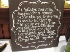 Great quote...cute canvas!