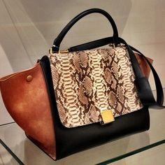 64034142be Multi Celine trapeze bag. LOVE the trapeze style bags <3 Celine Bag,
