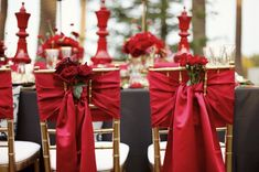 chair sashes and more.....The Queen of Hearts.....event.....