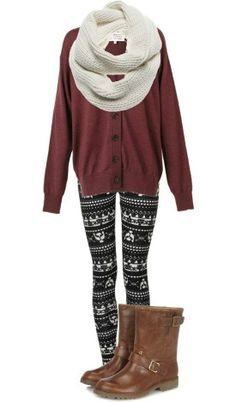 winter outfit idea .