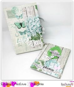 "Bonjour, je vous propose aujourd'hui un tuto pour réaliser le mini album "" book "" que voici : produits de la boutique - collection "" shabby love "" de Toga - tampons clears Florilèges design : smile & be happy, bulles géométriques - tampons clears les..."