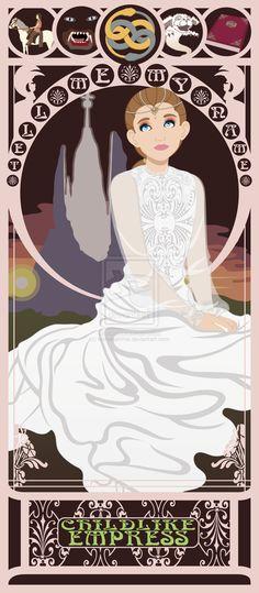 Childlike Empress Nouveau by kishokahime.deviantart.com (The whole Princess/Heroine Nouveau series is worth checking out.)