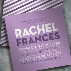 Rachel G504    EventPrints Modern and Sophisticated Bar and Bat Mitzvah Invitations EventPrints, Bat Mitzvah Invitation, Bar Mitzvah Invitations, B'nai Mitzvah Invitation, B'not Mitzvah Invitation, customizable invitations, unique, modern, fun, traditional, classic, Atlanta, http://www.eventprints.com