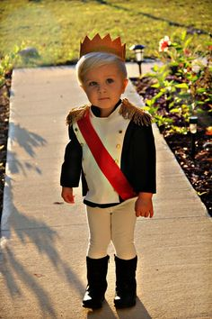 Toddler Prince Costume. Looking for a cute Halloween costume for your Toddler? This one is super cute for your little Prince!