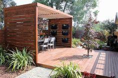 pergola deck dining room